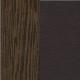 ЛДСП с экокожей: Дуб венге с коричневым